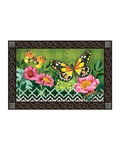 CLR Butterflies with Pink Flowers MatMate