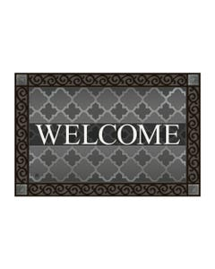 Quatrefoil Welcome MatMate