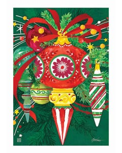 CLR Merry and Bright Garden Flag