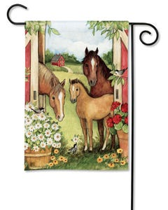 CLR Springtime on the Farm Garden Flag