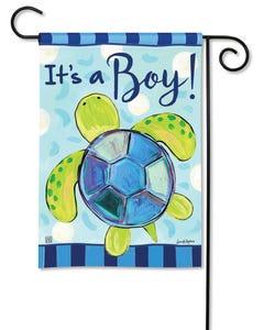 CLR Sea Turtle - It's a Boy Garden Flag