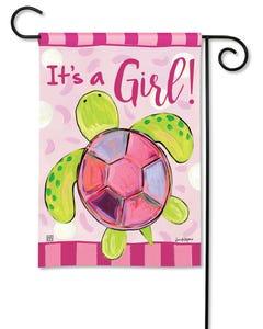CLR Sea Turtle - It's a Girl Garden Flag
