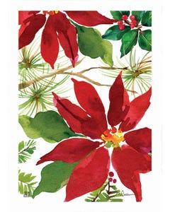Pretty Poinsettia Garden Flag