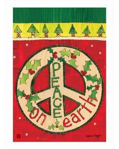 Peace on Earth Garden Flag