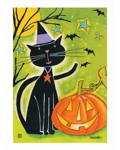 Black Cat Magic Garden Flag