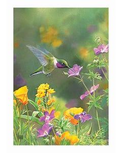 Hummingbird Hover Garden Flag