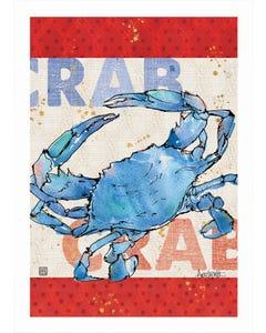 Nautical Crab Garden Flag