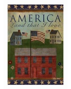 Primitive America Garden Flag
