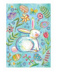 Easter Bunny Garden Garden Flag