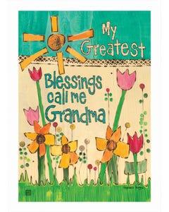 Greatest Blessings Garden Flag
