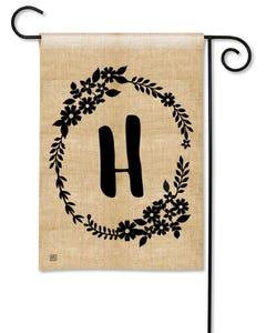 POD Rustic Monogram H Garden Flag