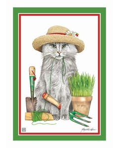 Garden Kitty Garden Flag