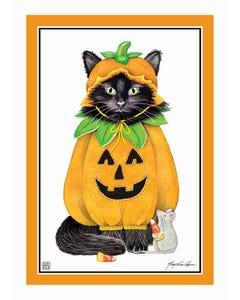 Halloween Cat Garden Flag
