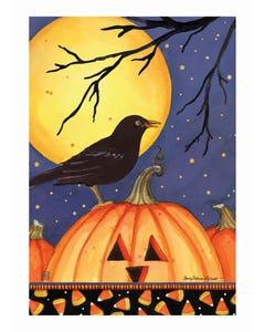 Halloween Crow Garden Flag