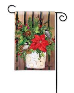 CLR Chickadee Greeters Garden Flag