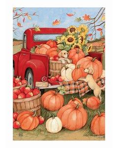 Pumpkin Delivery Garden Flag