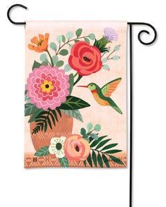 Terra Flora Hummingbird Garden Flag