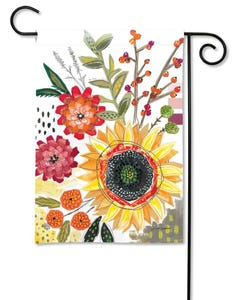 Sunflower Snippets Garden Flag