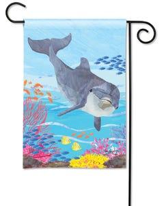 Dolphin Garden Flag