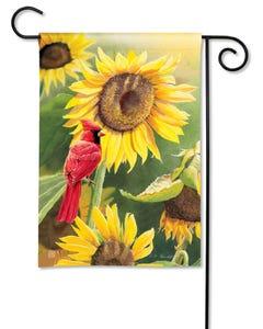 Sunflower Cardinal Garden Flag