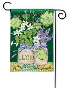 Lucky Shamrocks Garden Flag