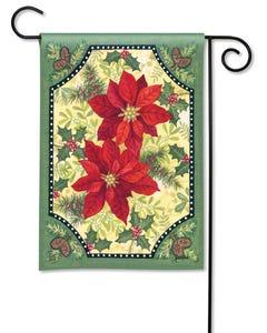 Pretty Poinsettias Garden Flag