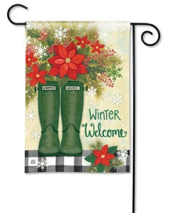 Winter Wellies Garden Flag