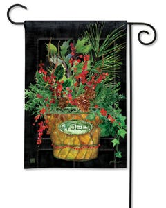 Holiday Door Garden Flag