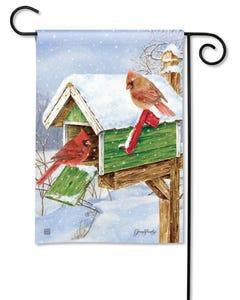 Cardinal Mailbox Garden Flag