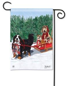 Mountain Dogs Garden Flag