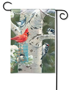 Winter Birds Garden Flag