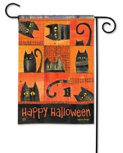 Halloween Cats Garden Flag