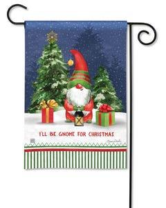 Gnome For Christmas Garden Flag
