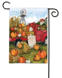 Pumpkins for Sale Garden Flag