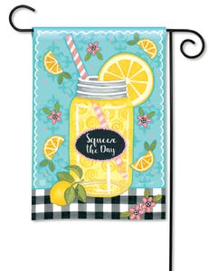 Squeeze the Day Garden Flag