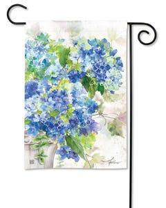 Blue Hydrangeas Garden Flag