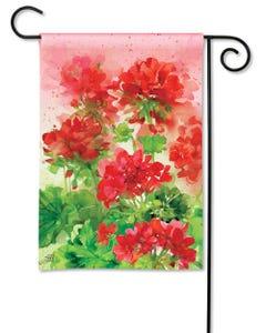 Geranium Garden Garden Flag