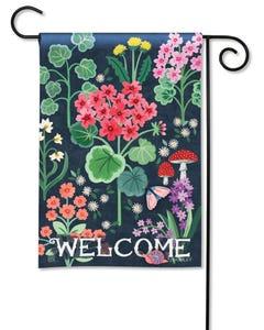 Geranium Welcome Garden Flag