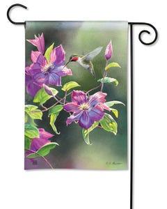 Hummingbird Visit Garden Flag