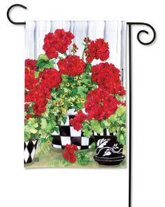 Geranium Flowers Garden Flag