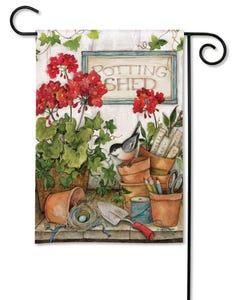 Stay Awhile Garden Flag
