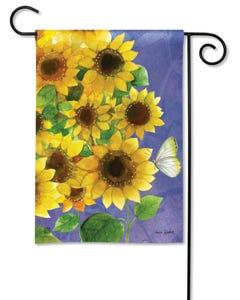 Sunflowers on Blue Garden Flag