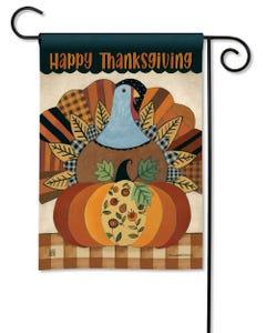 Thanksgiving Turkey Garden Flag