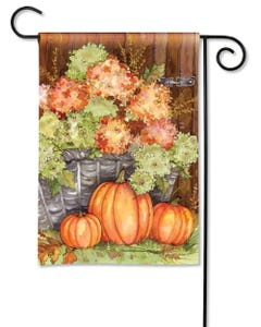 Fall Hydrangeas Garden Flag