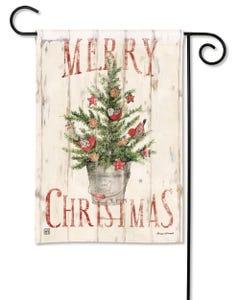 Farmhouse Christmas Garden Flag