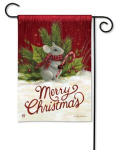 Christmas Mouse Garden Flag