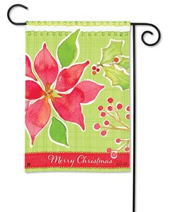 CLR Christmas Flower Garden Flag