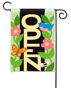 CLR Open Applique Garden Flag