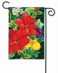CLR Poinsettia Fruit Garden Flag
