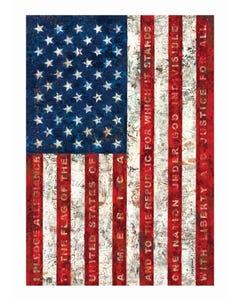 Pledge of Allegiance Garden Flag
